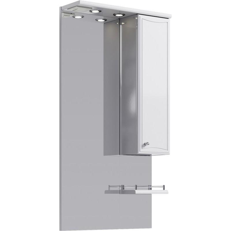Зеркальный шкаф Aqwella Барселона 55 Ba.02.55 с подсветкой Белый набор буров для перфоратора bosch sds plus 7x 5 10 мм 5 шт 2608576199