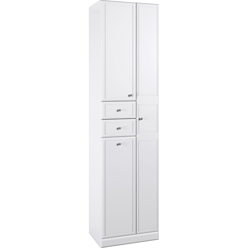 Шкаф пенал Aqwella Барселона 50 Ba.05.05 Белый шкаф пенал aqwella лайн 50 li 05 05 1 белый