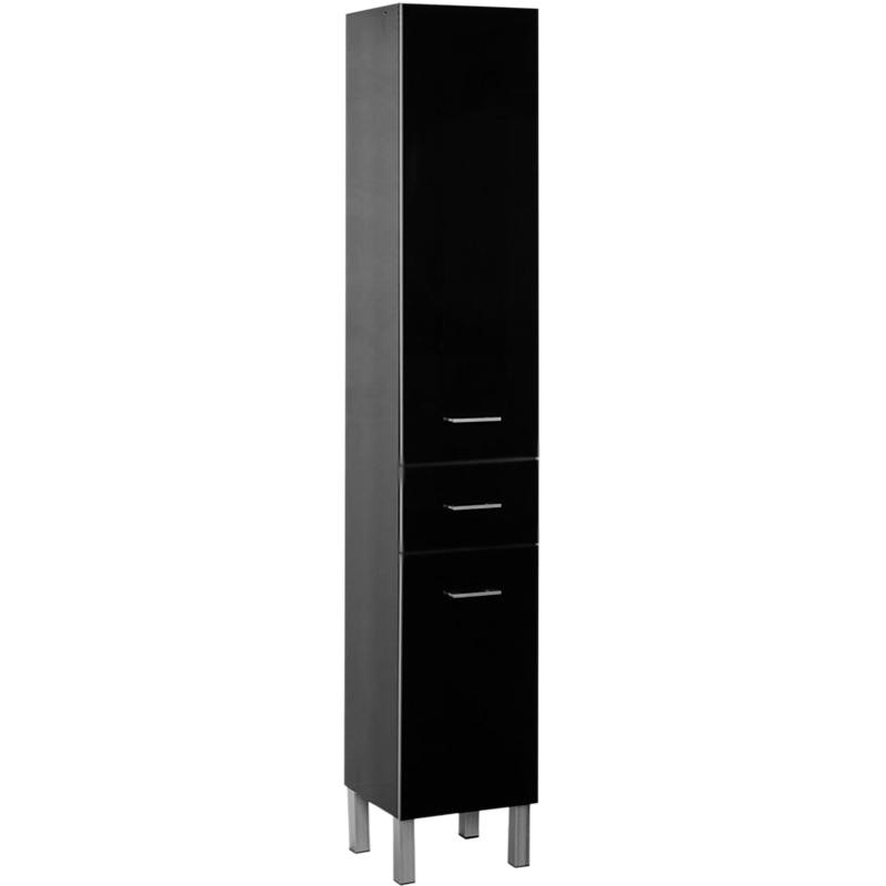 Шкаф пенал Aquanet Верона 35 178971 R Черный пенал подвесной черный aquanet верона 00175391
