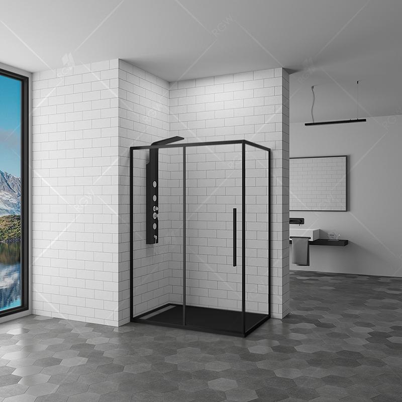 Душевой уголок RGW Stilvoll SV-42 90x140 профиль Черный стекло прозрачное фото