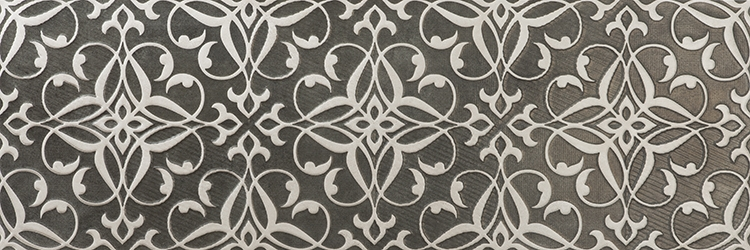 Керамическая плитка El Molino Trail Floral Decor Gris настенная 30x90см керамическая плитка newker elite line white настенная 30x90см