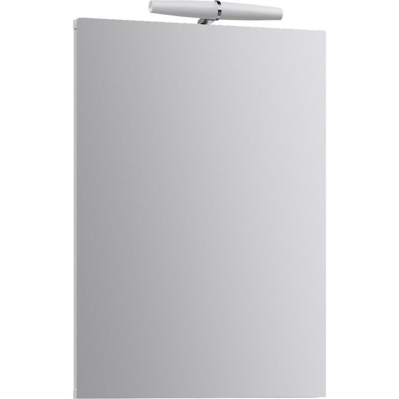 Зеркальный шкаф Aqwella Дельта 33 Del.04.33 с подсветкой угловой Белый цена и фото
