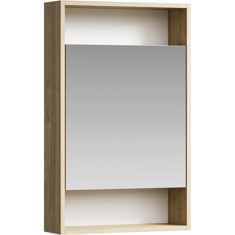 Зеркальный шкаф Aqwella Сити 50 SIT0405DB Дуб балтийский