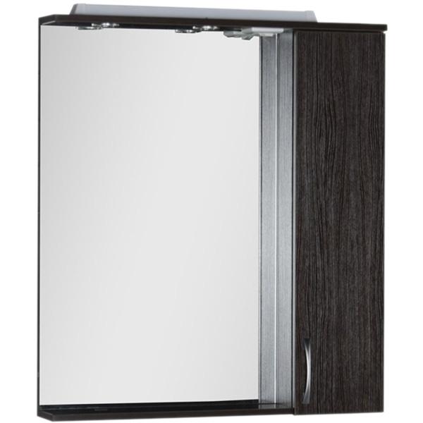 Зеркало со шкафом Aquanet Донна 80 168939 с подсветкой R Венге