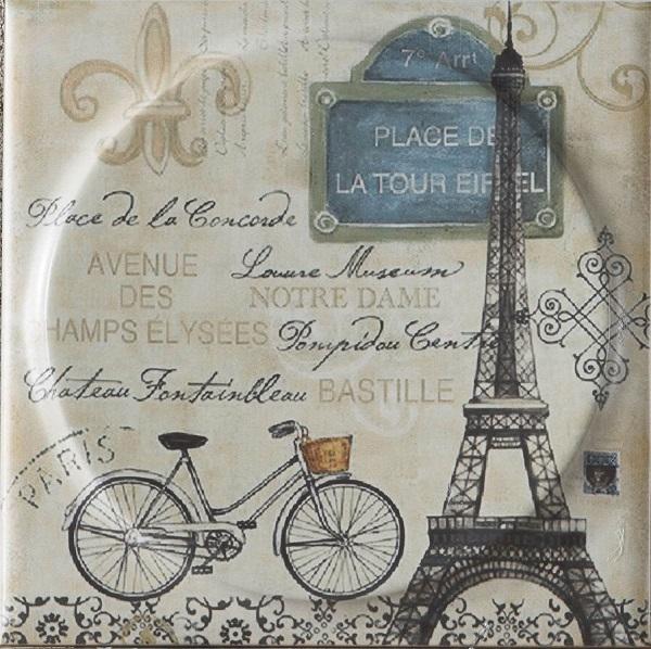 Керамическая плитка Mayolica Vintage Paris Moon настенная 20x20см