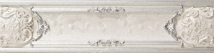 Бордюр Newker Marbeline Empire White Listello 9,5x40см
