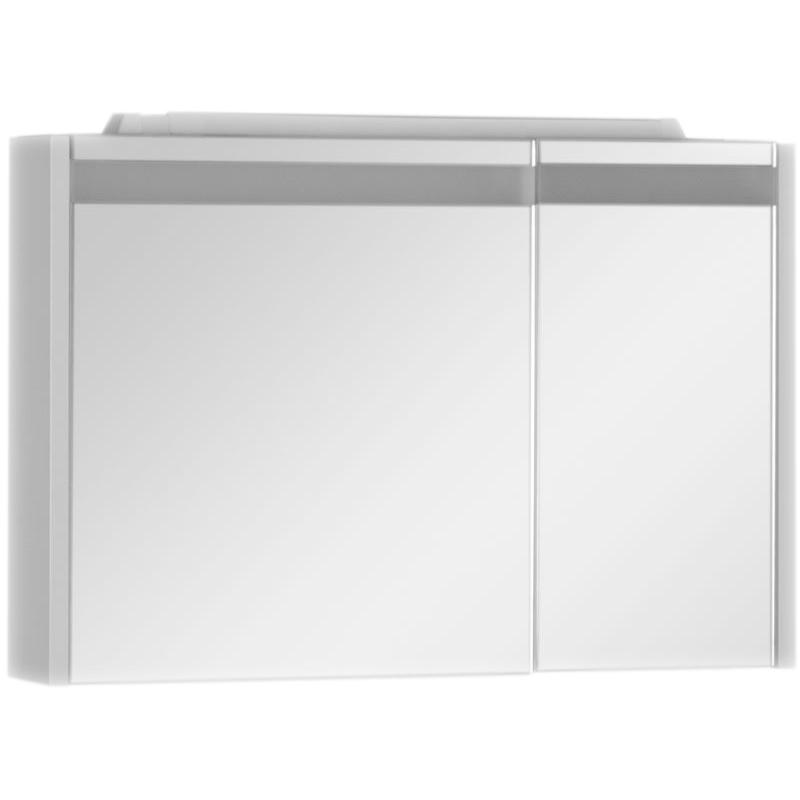 Зеркальный шкаф Aquanet Лайн 90 164934 с подсветкой R Белый aquanet лайн 90 r камерино со свет 164934