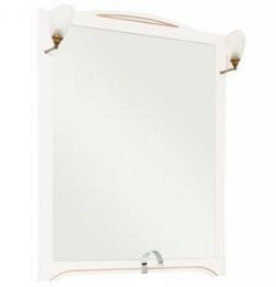 Зеркало Aquanet Луис 90 173220 Белое раковина aquanet луис 176639
