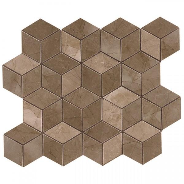 Керамическая мозаика Marca Corona Delux Bronze Tessere Rombi 26х28 см керамическая мозаика marca corona delux grey tessere rombi 26х28 см