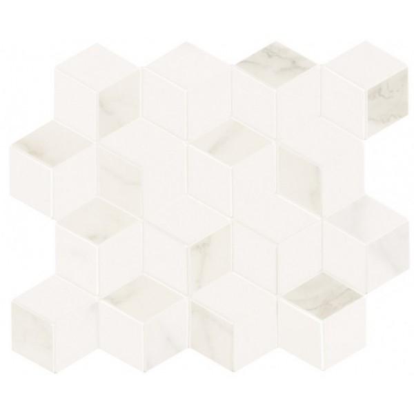 Керамическая мозаика Marca Corona Delux White Tessere Rombi 26х28 см керамическая мозаика marca corona delux grey tessere rombi 26х28 см