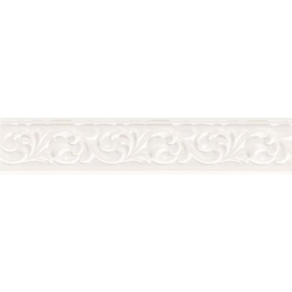 Керамический бордюр Marca Corona Delux White Fregio 6х30,5 см