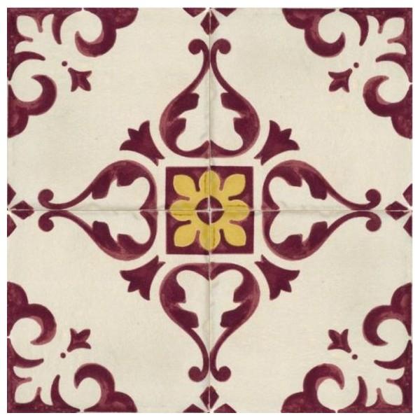 Керамический декор Marca Corona Jolie Ivoire Purple Trama 8333 10х10 см