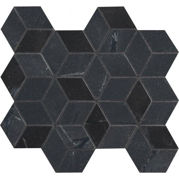 Керамическая мозаика Marca Corona Newluxe Black Tessere Rombi 26х28 см керамическая мозаика marca corona delux grey tessere rombi 26х28 см