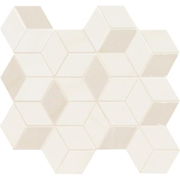 Керамическая мозаика Marca Corona Newluxe White Tessere Rombi 26х28 см керамическая мозаика marca corona delux grey tessere rombi 26х28 см