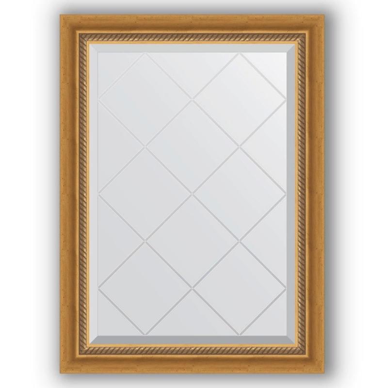 Зеркало Evoform Exclusive-G 86х63 Состаренное золото с плетением зеркало evoform exclusive g 86х63 состаренное золото с плетением