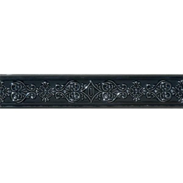 Керамический бордюр Marca Corona Newluxe Black Bordo 6х30,5 см