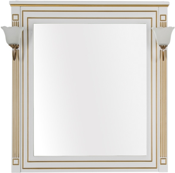 Зеркало Aquanet Паола 90 186108 Белое золото