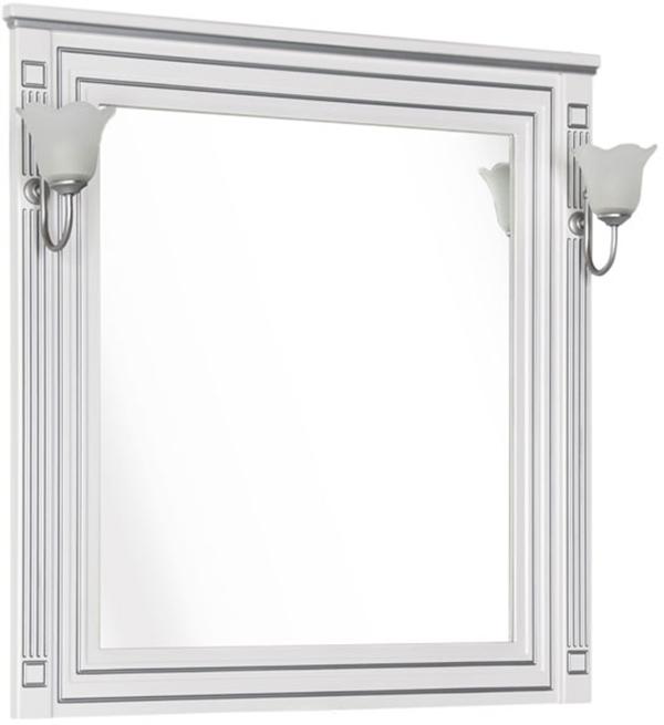 Зеркало Aquanet Паола 90 181769 Белое серебро
