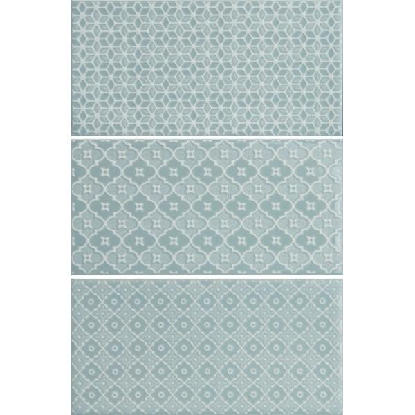 Керамический декор Monopole Ceramica Mirage Jewel Pearl Blue 7,5х15 см