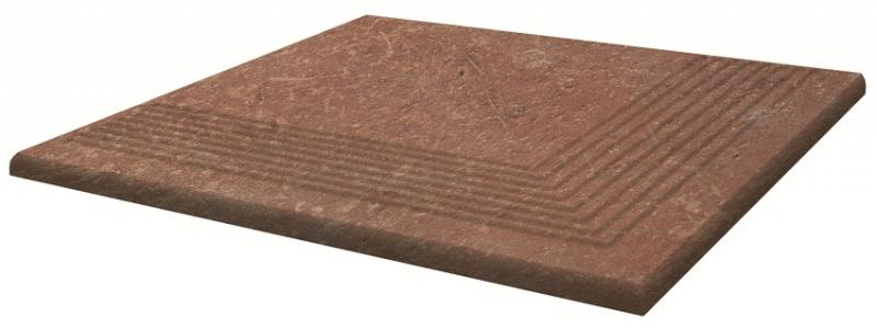 Ступень угловая Ceramika Paradyz Scandiano Rosso Stopnica Narozna 30х30см