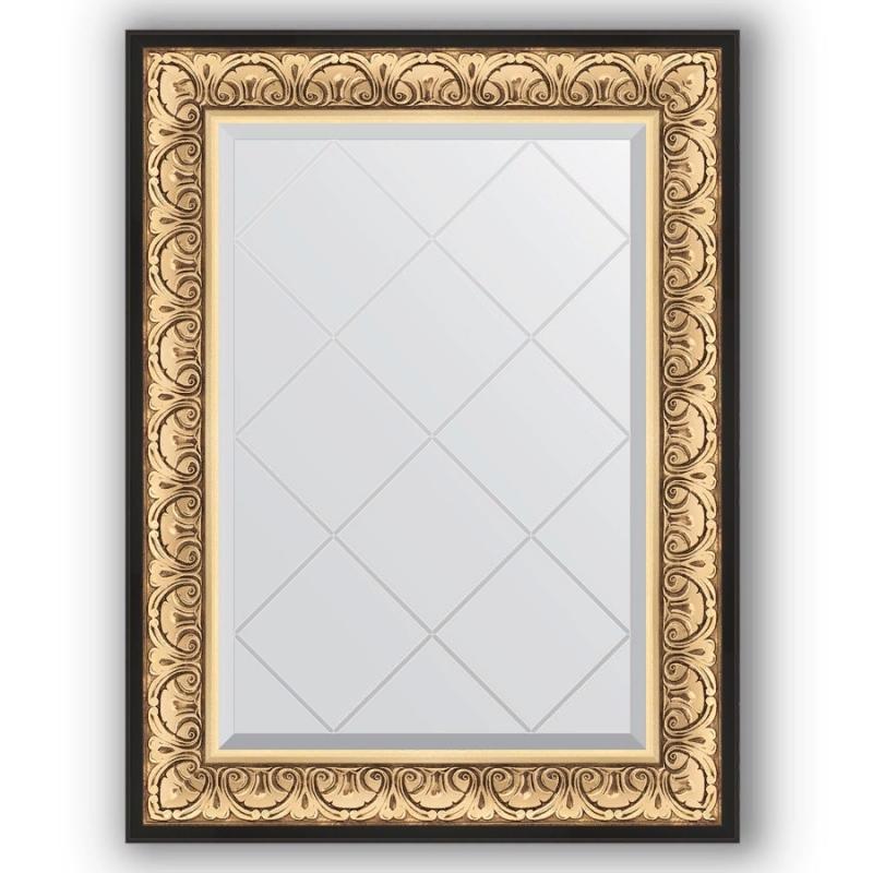 Фото - Зеркало Evoform Exclusive-G 92х70 Барокко золото зеркало с гравировкой поворотное evoform exclusive g 70x160 см в багетной раме барокко золото 106 мм by 4165