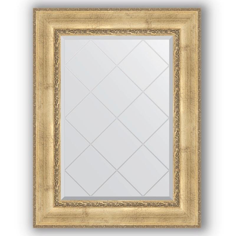 Зеркало Evoform Exclusive-G 95х72 Состаренное серебро с орнаментом фото