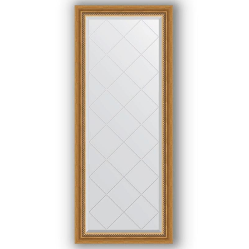 Зеркало Evoform Exclusive-G 153х63 Состаренное серебро с плетением фото