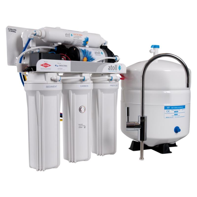 Фильтр для очистки воды Atoll A-550p STD (A-560E cp) с насосом под кухонную мойку