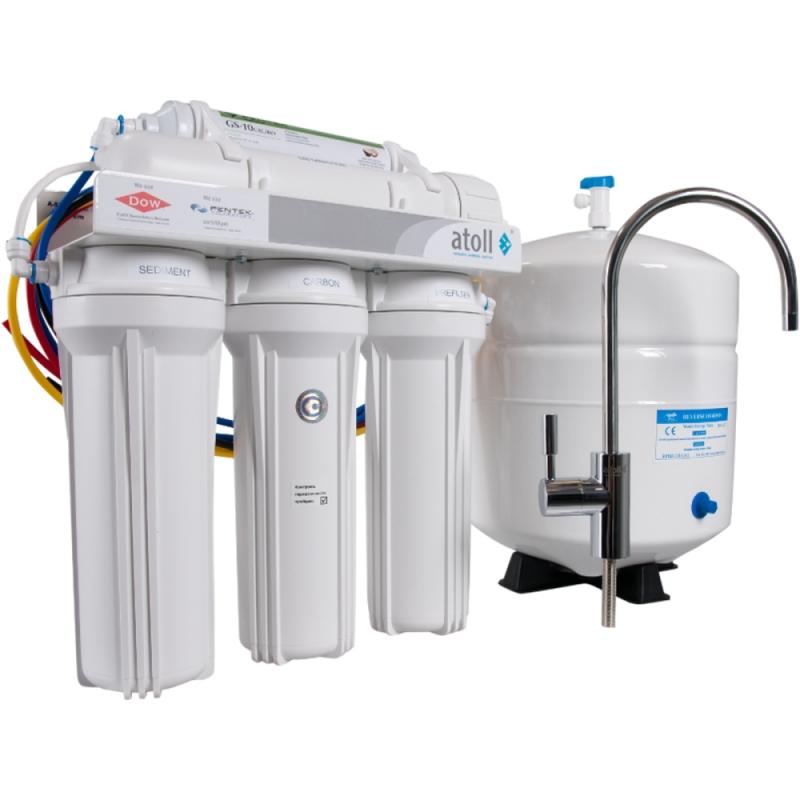 Фильтр для очистки воды Atoll A-550m STD (A-560Em) с минерализатором под кухонную мойку