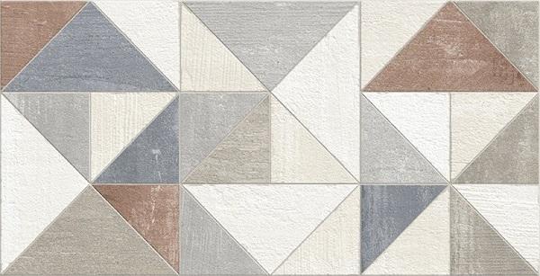 Керамическая плитка Domino Mundi Decor Geom Colors настенная 34x66.5см