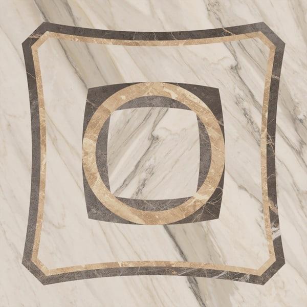 Керамический декор ColiseumGres Portofino Белый Inserto intarsio лаппатированный 45х45 см цена и фото