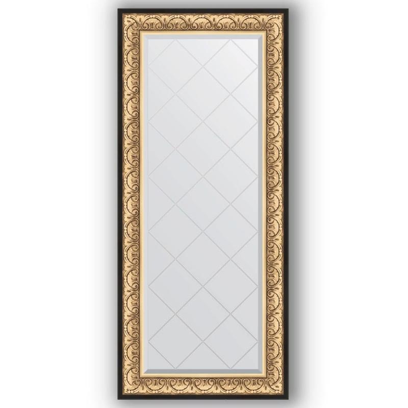 Фото - Зеркало Evoform Exclusive-G 160х70 Барокко золото зеркало с гравировкой поворотное evoform exclusive g 70x160 см в багетной раме барокко золото 106 мм by 4165