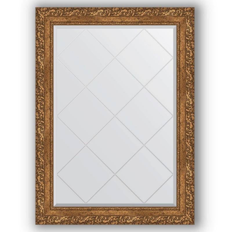 Зеркало Evoform Exclusive-G 102х75 Виньетка античная латунь зеркало evoform exclusive g 185х130 виньетка античная латунь