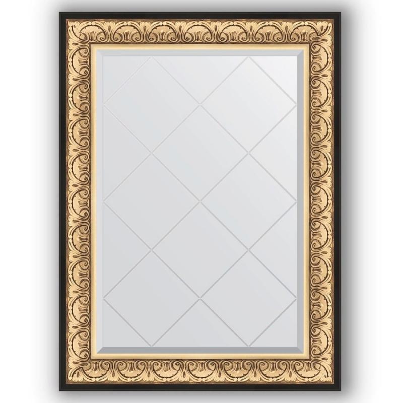 Фото - Зеркало Evoform Exclusive-G 107х80 Барокко золото зеркало с гравировкой поворотное evoform exclusive g 70x160 см в багетной раме барокко золото 106 мм by 4165
