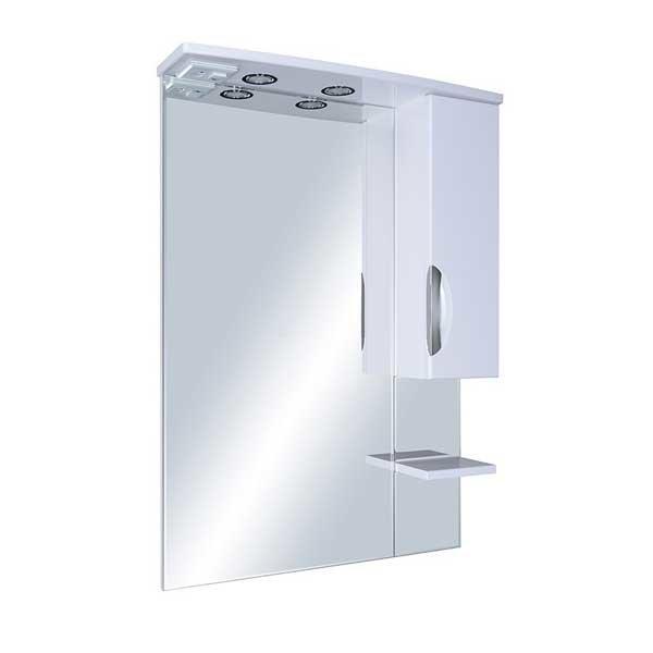 Зеркало со шкафом АСБ-мебель Мессина 80 9615 R с подсветкой Белый фото