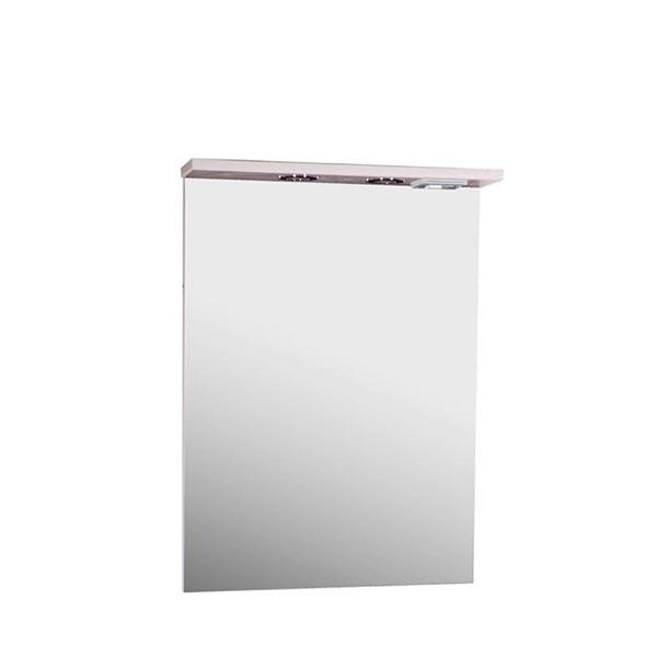 Зеркало АСБ-мебель Коста 60 11482 с подсветкой Ясень белый