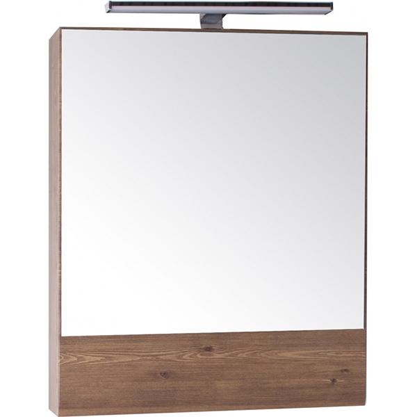 Зеркальный шкаф АСБ-мебель Анкона 60 9750 с подсветкой Дуб