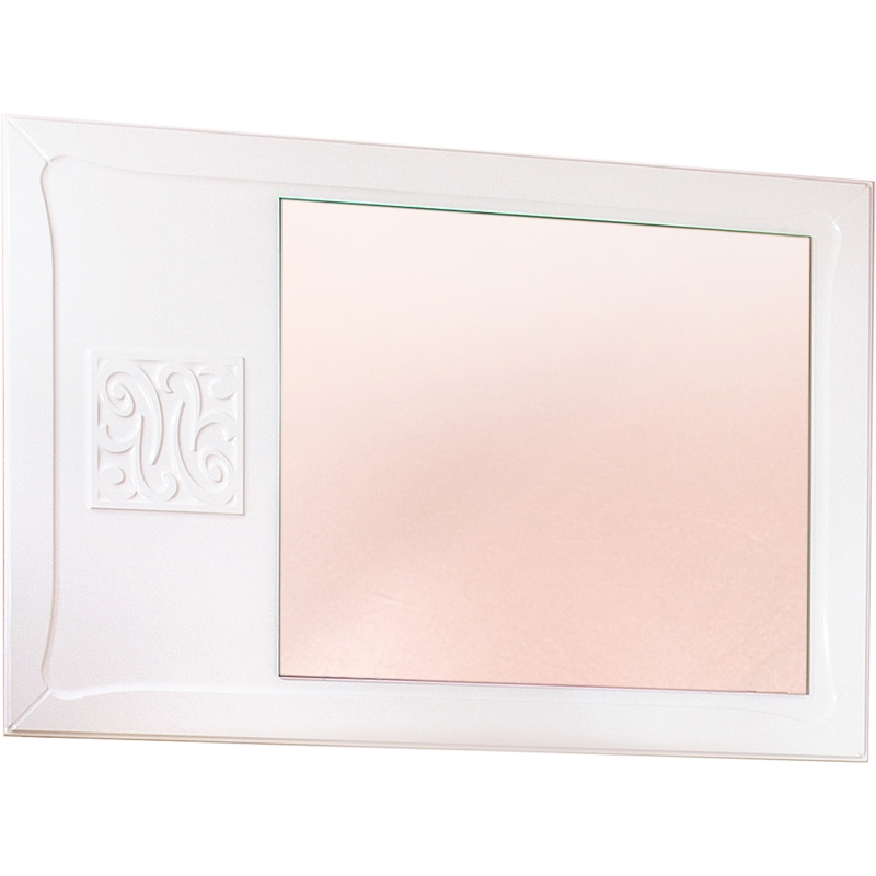 Зеркало Бриклаер Адель 105 Белое глянцевое