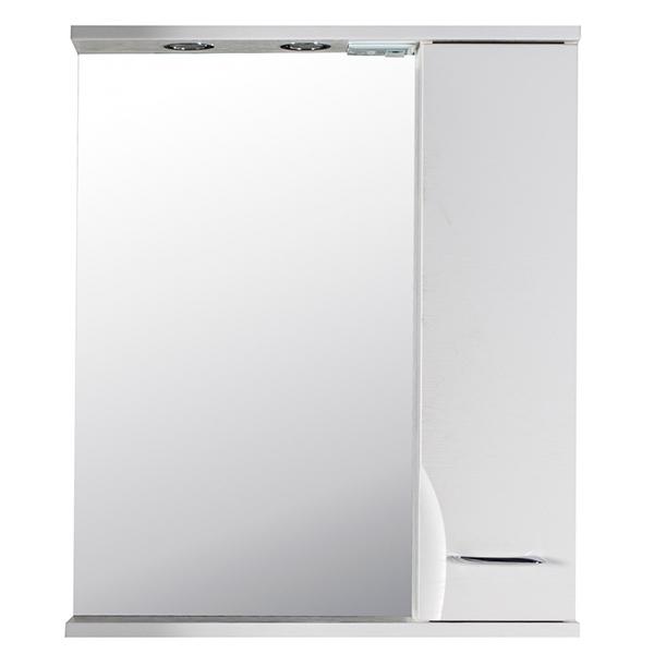 Зеркало со шкафом АСБ-мебель Альфа 65 10171 R с подсветкой Белый ясень
