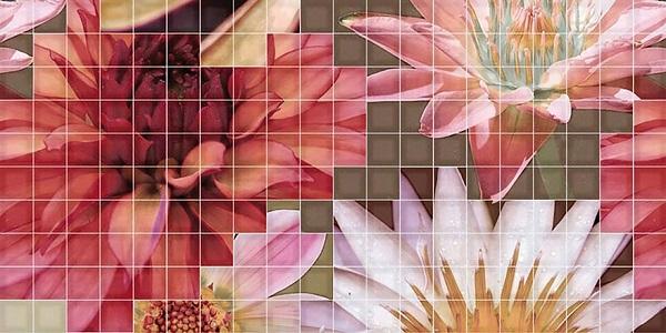 Керамический декор Fanal Mosaico Beige Decor Crema Flor-1 25x50см мозаичный декор capri i travertini mosaico intreccio crema lap ret 30x30