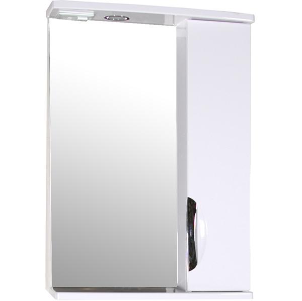 Зеркало со шкафом АСБ-мебель Мессина 50 9885 R с подсветкой Белый