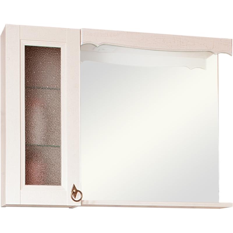 Зеркальный шкаф Бриклаер Кантри 75 Бежевый дуб прованс зеркальный шкаф бриклаер бали 40 светлая лиственница