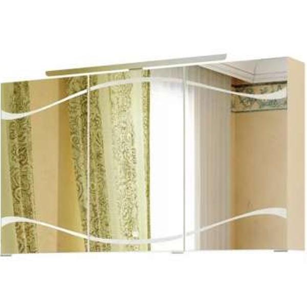 Зеркальный шкаф Aqwella Clarberg Due amanti 120 Due.04.12/W с подсветкой Белый