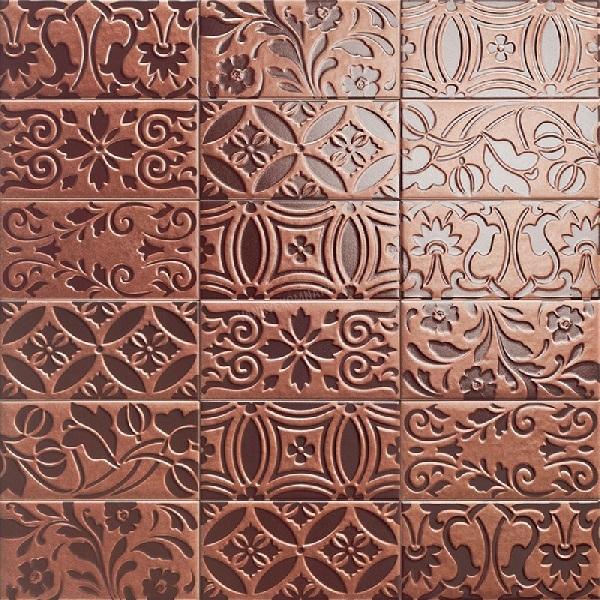 Керамическая плитка Mainzu Velvet Decor Gold настенная 10х20см