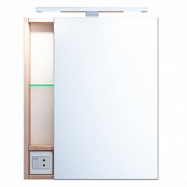 Зеркальный шкаф Iddis Mirro 50 с подсветкой Белый Дерево
