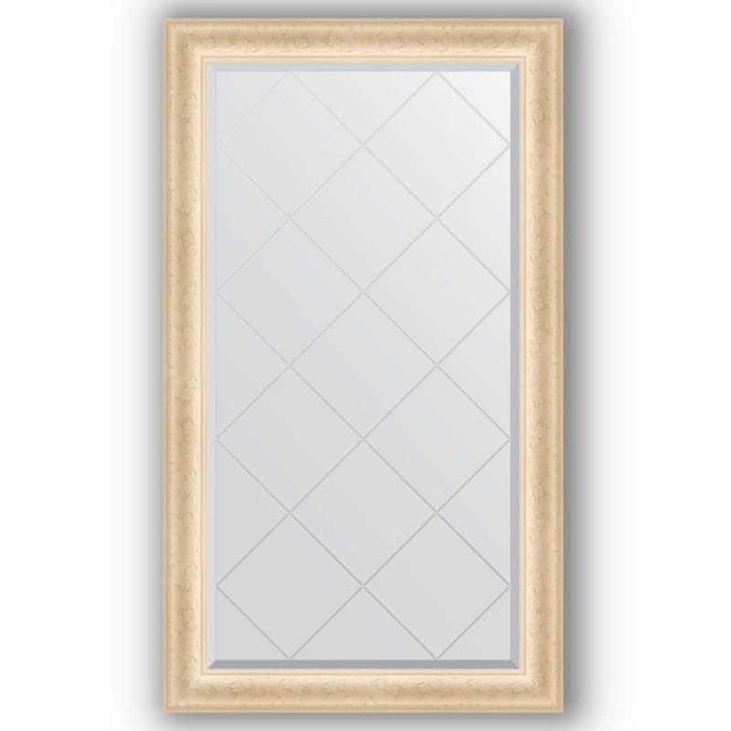 Зеркало Evoform Exclusive-G 130х75 Виньетка античная латунь зеркало evoform exclusive g 185х130 виньетка античная латунь