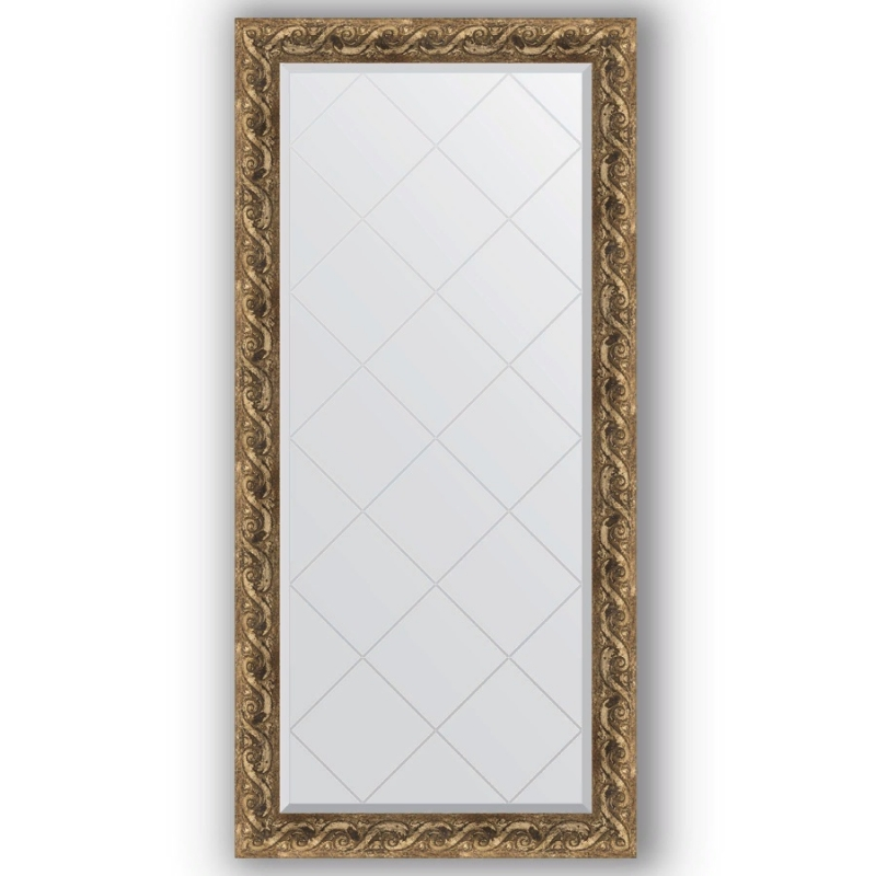 Зеркало Evoform Exclusive-G 158х76 Чеканка серебряная