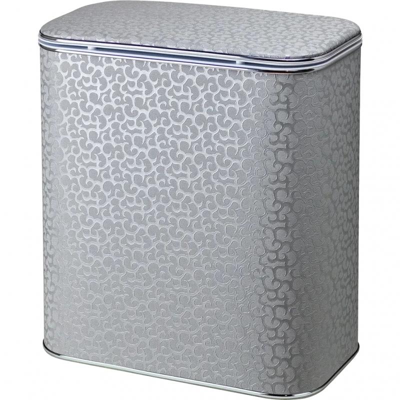 Корзина для белья Cameya Цветы FHH-M-9 с микролифтом средняя Серебро, кант хром все цены