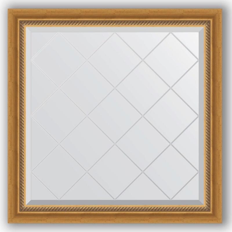 Зеркало Evoform Exclusive-G 83х83 Состаренное золото с плетением зеркало evoform exclusive g floor 198х78 состаренное золото с плетением