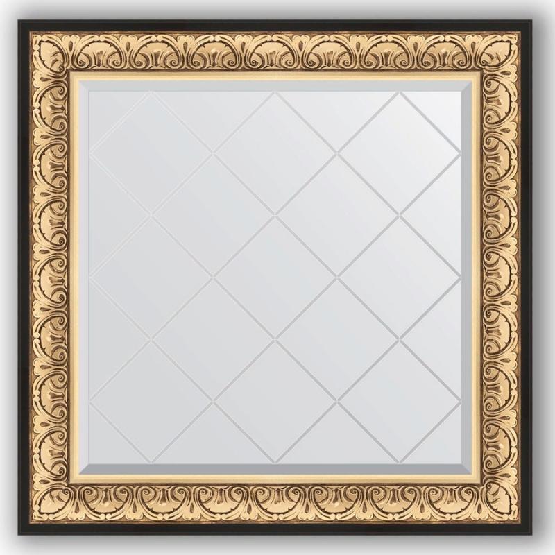 Зеркало Evoform Exclusive-G 90х90 Барокко серебро фото